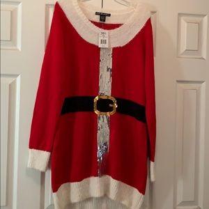 Holiday tunic sweater